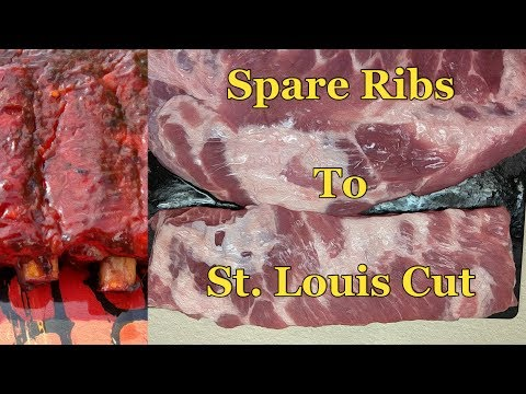 Trim Spare Ribs into St Louis style | Pork Rib Butchery