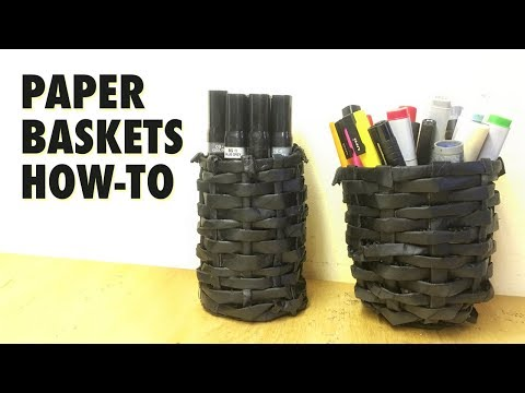 Paper Basket from old newspaper - How To, Tutorial