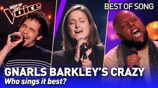 The BEST Gnarls Barkley's CRAZY covers in The Voice | Who sings it best? #4