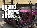 GTA 5 Online -  Fun Times with a Car Carrier Truck!  (GTA 5 Funny Multiplayer Glitches and Moments!)