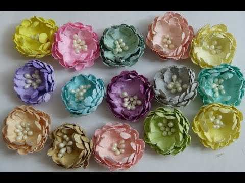 DIY:Easy to make Scallop punch paper flowers tutorial by SaCrafters
