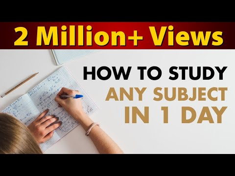 How to Study Math, Science, Social Studies & English in 1 Day | Exam Tips For Students | LetsTute