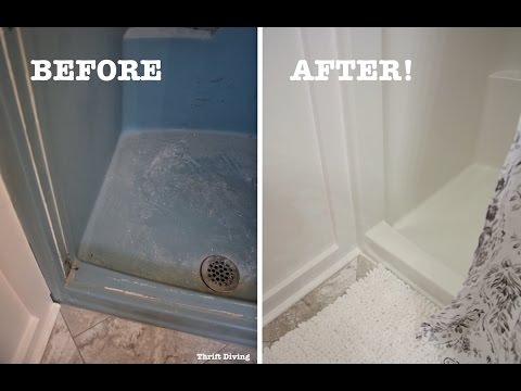 DIY Shower and Tub Refinishing: How to Paint an Old Shower - Thrift Diving