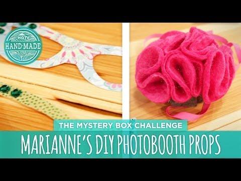 Marianne's DIY Photobooth Props - HGTV Handmade Mystery Box Challenge