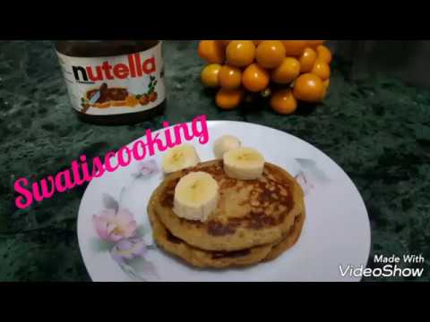 Eggless Whole Wheat Banana Pancakes | Quick & Simple Tiffin Recipe | Breakfast Recipe
