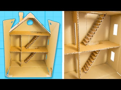 How to Make a Cardboard House with Rooms - Part 1/6 | Craft Ideas For Kids on Box Yourself