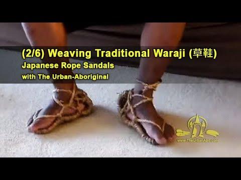 (2/6) Weaving Traditional Waraji (rope sandals) w/ The Urban-Abo: Start