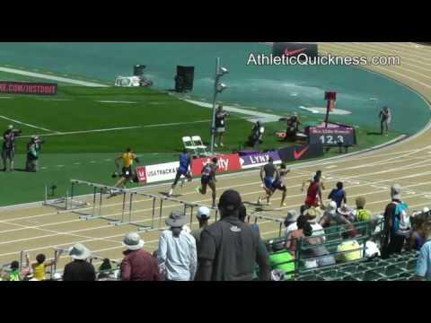 USATF Sacramento 2017: 110m hurdles final, mens. Aleec Harris 13.24.