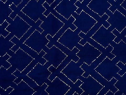 Sashiko Embroidery // Quilt Design Tutorial-18- For Very Beginners