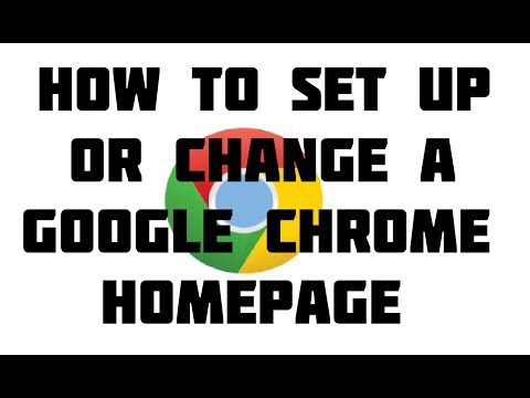 How to Change Your Home Page in Google Chrome