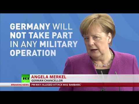 Macron & Merkel react to proposed military intervention in Syria