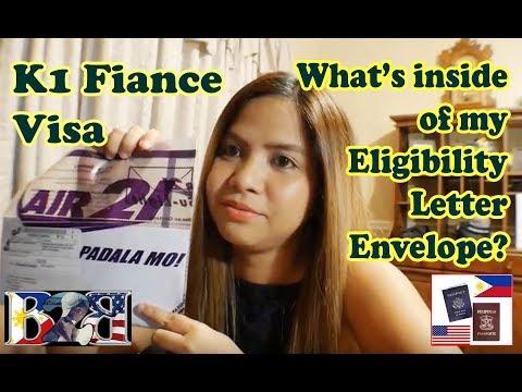K1 Visa ELIGIBILITY LETTER  from US Embassy!