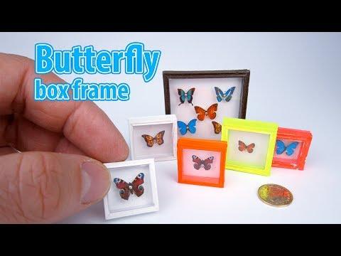DIY Realistic Miniature butterfly box frame| DollHouse | No Polymer Clay!