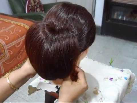 Hairstyle - Love Bun. Best for medium hair.