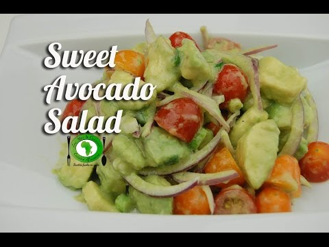 Sweet avocado salad