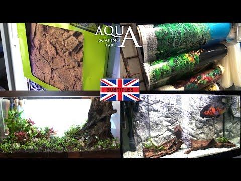 Aquascaping Lab - Aquarium Background types, 3D BACKGROUND, TRANSPARENT ADHESIVE FILM , IMAGE