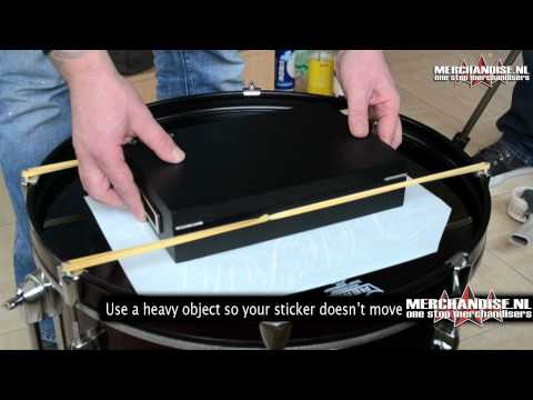 How to place a decal on your Bass Drum head