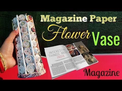 Newspaper Flower Vase DIY Newspaper Crafts  Best out of Waste (LifeStyle Designs Unique Idea)