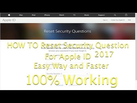 How To reset security question for apple ID in Easy Way 2017