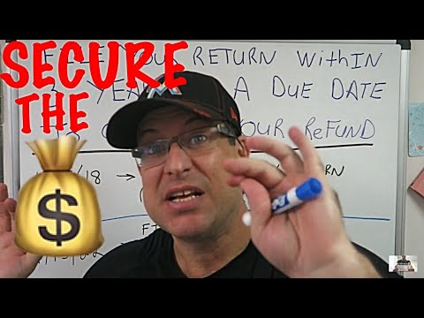 Getting a Tax Refund / Income Tax Tips #10 / You have to file within 3 years of due date to get
