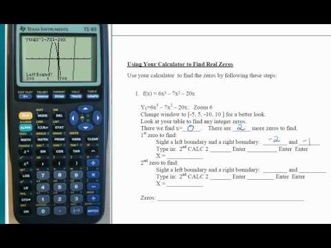 finding zeros of polynomial on calculator