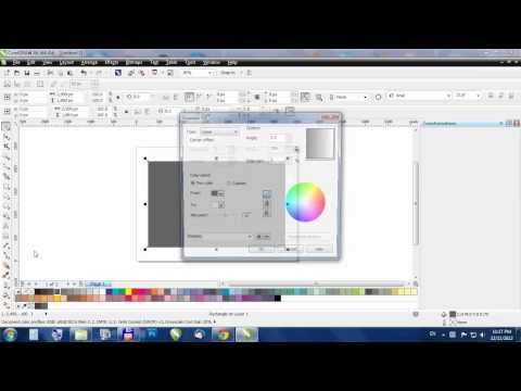 CorelDraw - How to: gradient (fountain) fil