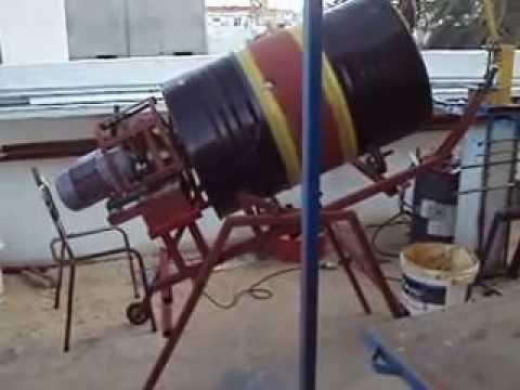 homemade cement mixer 2nd test