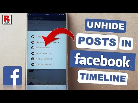 HOW TO UNHIDE POSTS IN FACEBOOK TIMELINE