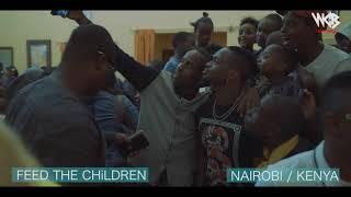Diamond Platnumz - Atembelea watoto wa sio na wazazi nchini kenya ( wasafi festival 2018)