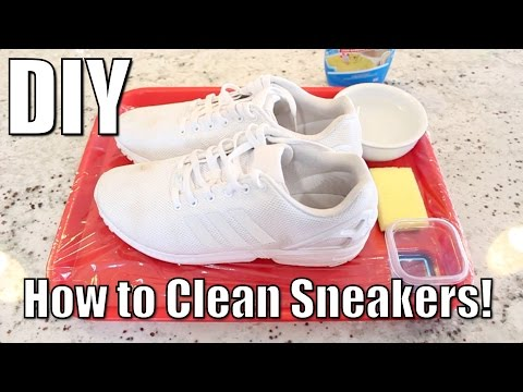 DIY: How to Clean Sneakers without Expensive Overpriced Shoe Cleaner! | Turn any Trash Shoe To Cash!
