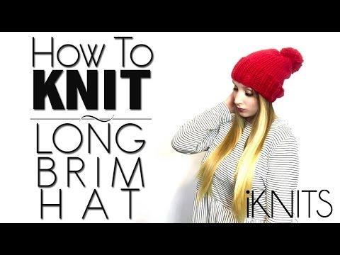 KNITTING TUTORIAL - LONG BRIM HAT