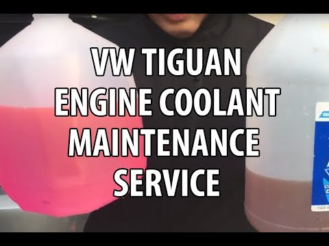 VW/Volkswagen Tiguan How to Mix, Add Coolant & Do Engine Coolant Maintenance Service
