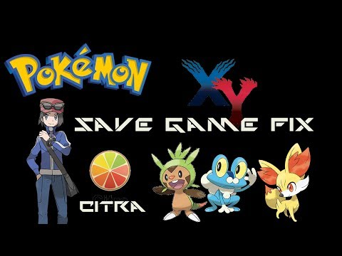 How To Fix Pokemon X and Y Save Game Data - Citra Emulator 100% SaveGame
