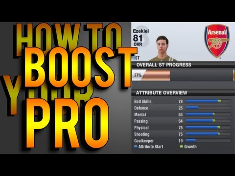 FIFA 13 | How To Boost Your Pros Stats Fast & Easy