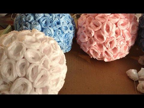 How To Make Elegant Crepe Paper Flower Balls - DIY Crafts Tutorial - Guidecentral