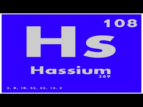 STUDY GUIDE: 108 Hassium | Periodic Table of Elements