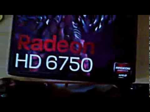 Ati radeon HD 6750 2gb DDR3 powercolour unboxing