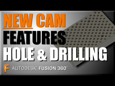 How to use NEW CAM HOLE and DRILLING features in Fusion 360! FF129