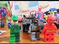 Lego Brinquedo Marvel Super Heroes Batman Flash Charada Homem de Ferro Thor Homem Aranha