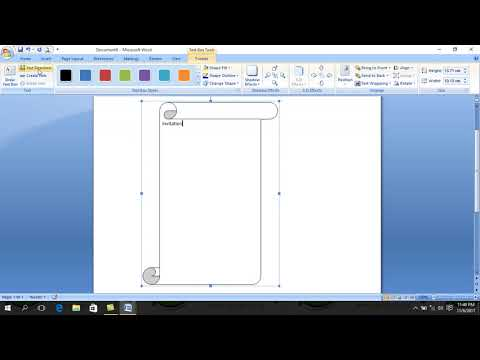 how to make a simple invitation letter use Microsoft Word..