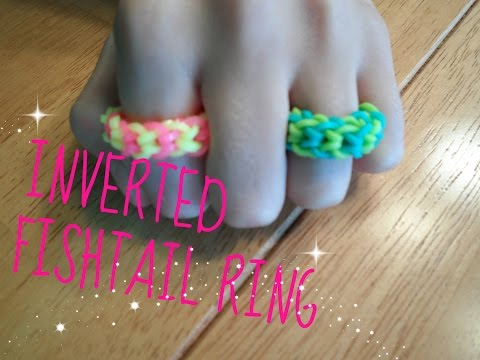HOW TO: Rainbow Loom Inverted Fishtail Ring (BEGINNER LEVEL)
