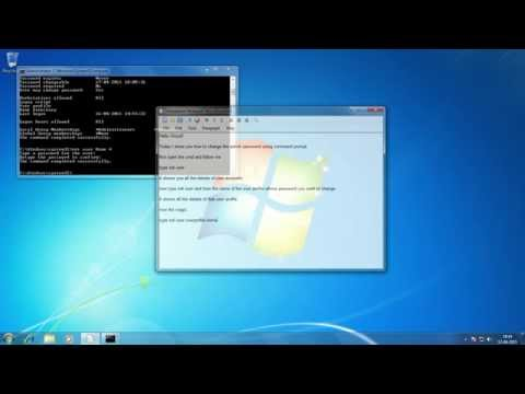 How to change the Admin Password using CMD