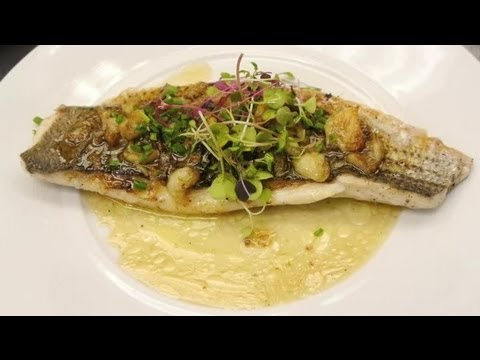 Baked Sea Bass With Garlic & Butter : Delectable Dishes