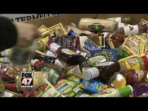 Local businesses collect food donations for those in need