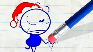 Pencilmate is Santa Claus! -in- NOT SO SILENT NIGHT - Pencilmation Cartoons for Children
