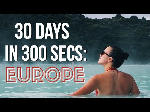 1 Month in Europe in 5 Minutes