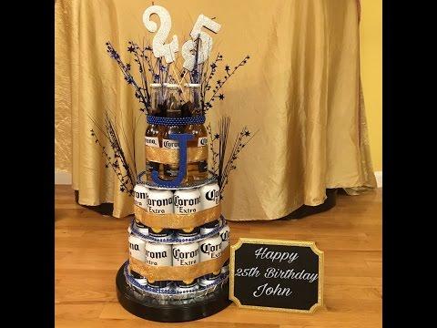 DIY Corona Beer Can/Bottle Cake For Boyfriend