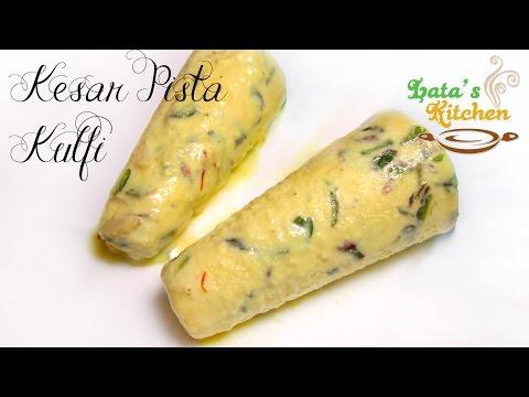 Kesar Pista Kulfi Recipe — Indian Dessert Recipe Video in Hindi with English Subtitles