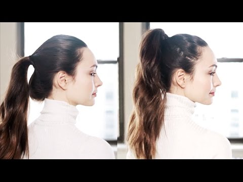 Quick Trick: Fake a Thicker Ponytail
