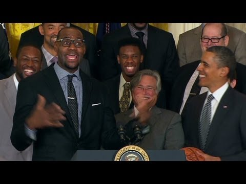 LeBron James was excited to be in the White House.